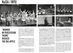Julie Review Downbeat magazine New York City percussion festival performance