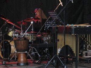 julie drumset and singing Bingen swingt international jazz festival