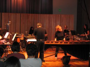 julie marimba concerto Waterfalls California Institute of the Arts Percussion Ensemble, David Johnson conducting
